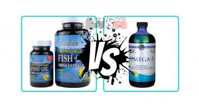 Carlson Labs Fish Oil vs. Nordic Naturals Fish Oil Supplement