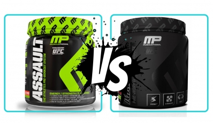 Assault vs Assault Black by MusclePharm